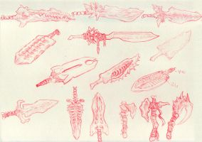 Bone Weapons 1 by GoldenOne