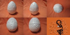 Carved Plaster Egg by Ramrum