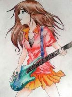 The guitarist girl by rachelegranger