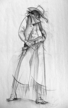 Gesture Drawing - Cowgirl by moth-eatn