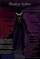 (CPOC) Shadow Seeker: Reference Sheet by L0ra2