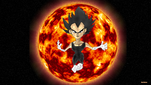 Vegeta flames of fury by Bicabo