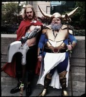 Odin and son cosplay by vandersnark