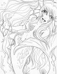 Infinite Stage :Floralia: Seraphine Lineart by marikit