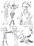 Comm--Kel and Myk Sketch Page by Zerna
