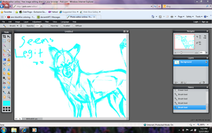 Random Red Wolf Sketch by Electrical--Volttail