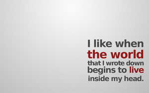 When created world begins to live inside my head by aschar