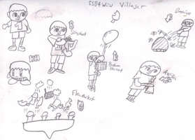SSB4 Candidates Villager by KingDor65