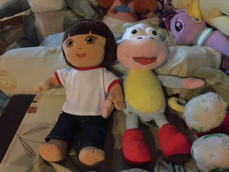 Build a bear Dora and boots by angelicoreXX