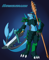Mergocendramon, the Tidehunter by INCtastic