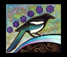 Black-Billed Magpie as Totem by Ravenari