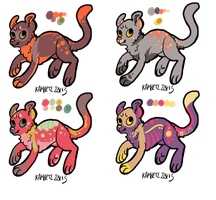 Cat Adopts [OPEN][1/4] by Kama-ItaeteXIII