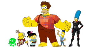 Wreck-It Homer Cast by darthraner83