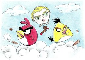 Breylon and the Angry Birds by nahrain