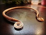 VIKING KNIT Torc with Spirals 2 by thewellandspindle