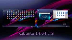 Kubuntu 14.04 LTS Screenshot by LiquidSky64
