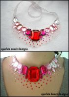 Valentine's Speckle Necklace by Natalie526