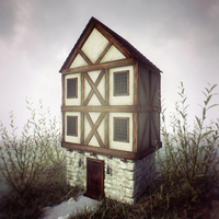 Diorama challenge: Old house by dwsel