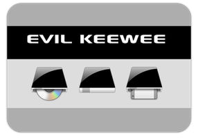 Evil KEEWEE Drive Icons by ifido