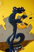 Sax Panther Close Up by mcjjsurber