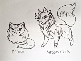 Project Fakemon: Espurr and Meowstick by XXD17