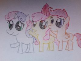 scootaloo, applebloom, and sweetie belle by ponys-for-you