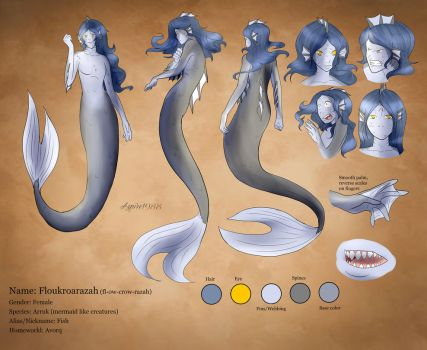 Floukroarazah (Fish), ref sheet by Aspire1988