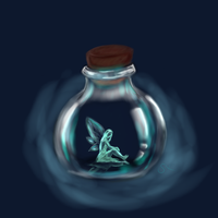 Fairy in a bottle by simon0sox