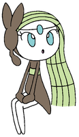 HoND2: Meloetta Sitting: Colored by Wanda92