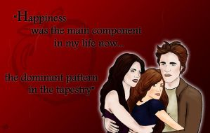 Bella, Edward, and Renesmee by paravelove