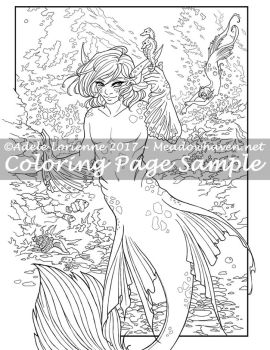 Art of Meadowhaven Coloring Page: Merfolk by Saimain