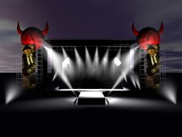 ACDC Stage by Grotezko