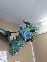 Paper Mache Wyvern by Lordnightbane