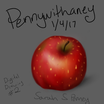 Apple A Day (Digital Drawing 2) by Pennywithaney