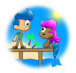 The Boy and the Mermaid by SuperSonicBros2012