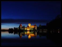 Trakai castle after midnight by kopus