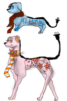 Scarfy plug dog adoptables (open) by Peppermintninjakitty