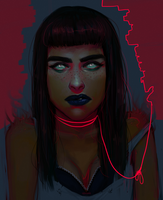 pukes neon by Herssian