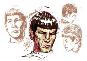 spock tos sketches by oreides