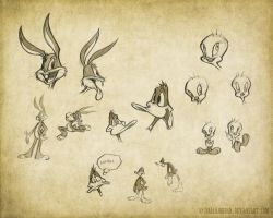 Looney Tunes Sketches by isaiahjordan