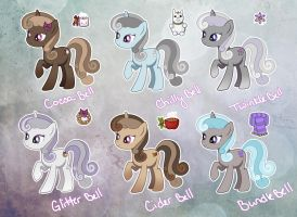 MLP: Winter Adoptables by nightingale5601