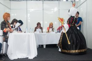 I met Reika in Brasil!! and she judged  my costume by HaruhichanxD