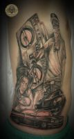 4 session Car chicana gang Tat by 2Face-Tattoo