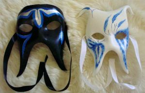 His and Hers Masks by flufdrax