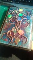Yggdrasil book cover (polymer clay) by HonorHarrington