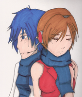 Kaito and Meiko by Torrtor