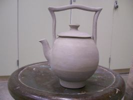 Stilt handle teapot- wet by KCJoker33