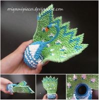 Origami Peacock by OrigamiPieces