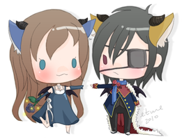 tinierme: Mr. and Mrs. Picky by mochimaruvii
