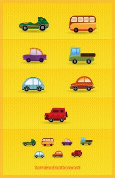 Car Icon set by bevel-and-emboss